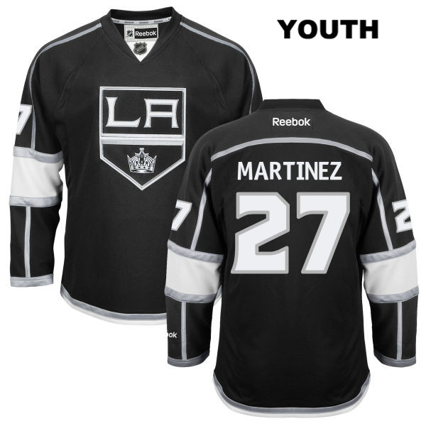 Stitched Alec Martinez Reebok Youth Los Angeles Kings Home Authentic no. 27 Black NHL Jersey - Alec Martinez Jersey