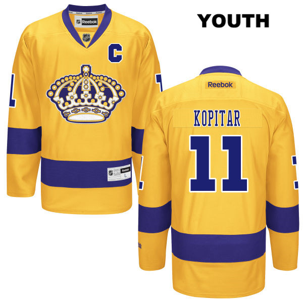 Anze Kopitar Youth Los Angeles Kings Alternate Authentic Stitched no. 11 Reebok Gold NHL Jersey - Anze Kopitar Jersey