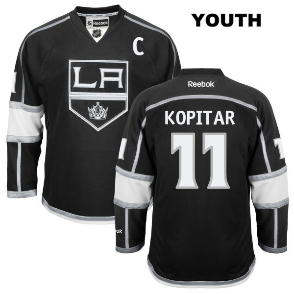 91cbbc819db Home Anze Kopitar Reebok Stitched Youth Los Angeles Kings Authentic no. 11  Black NHL Jersey