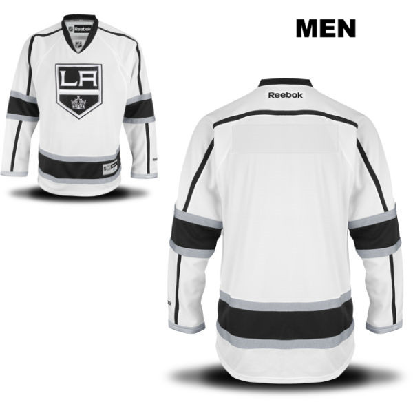 Blank Away Mens Los Angeles Kings Reebok Authentic Stitched blank White NHL Jersey - Blank Jersey