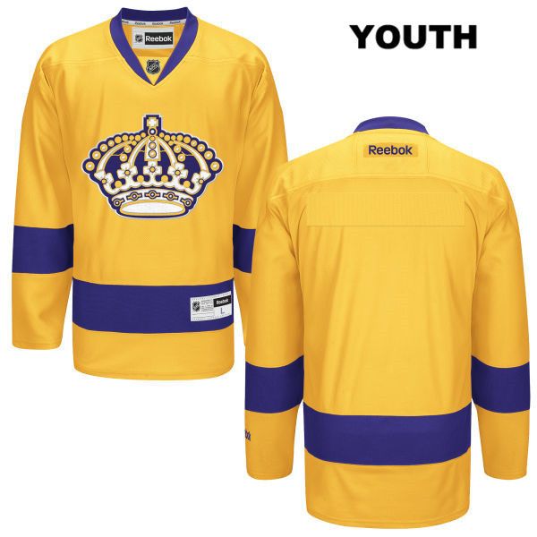 Reebok Blank Alternate Youth Los Angeles Kings Authentic Stitched blank Gold NHL Jersey - Blank Jersey