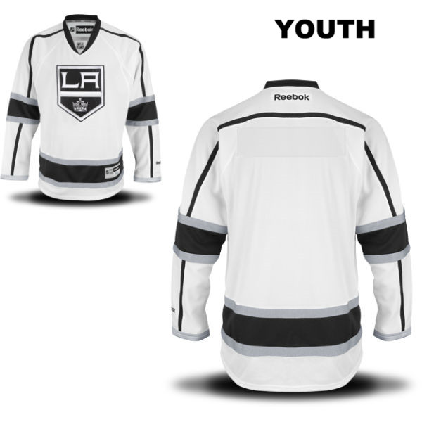 Blank Stitched Youth Los Angeles Kings Reebok Away Authentic blank White NHL Jersey - Blank Jersey
