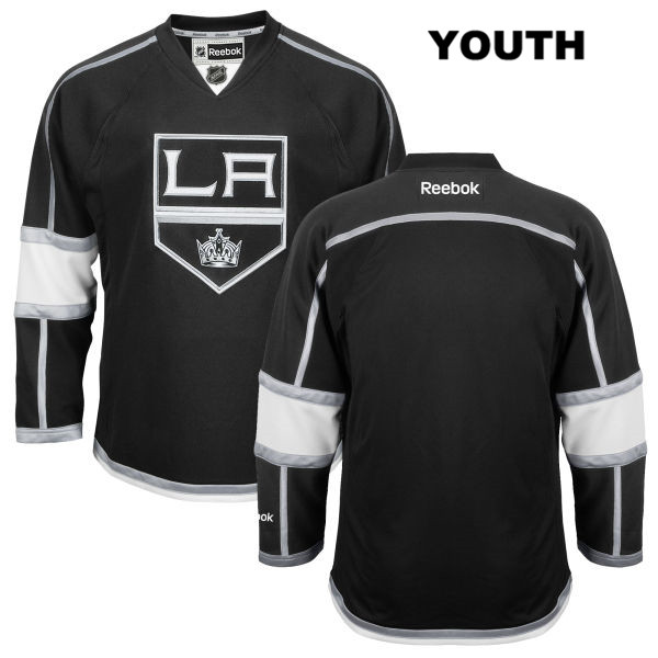 Reebok Blank Youth Stitched Los Angeles Kings Authentic Home blank Black NHL Jersey - Blank Jersey