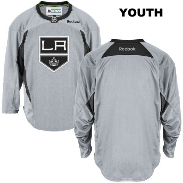 Blank Youth Reebok Los Angeles Kings Authentic blank Practice Stitched Gray NHL Jersey - Blank Jersey