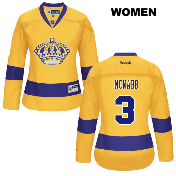 Brayden McNabb Womens Alternate Los Angeles Kings Reebok Authentic Stitched no. 3 Gold NHL Jersey - Brayden McNabb Jersey