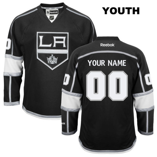 Stitched Customize Youth Los Angeles Kings Home Authentic Reebok customize Black NHL Jersey - Customize Jersey