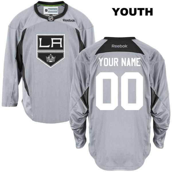 Customize Youth Stitched Los Angeles Kings Reebok Authentic Practice customize Gray NHL Jersey - Customize Jersey
