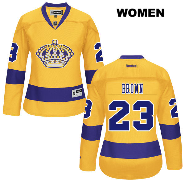 Dustin Brown Womens Los Angeles Kings Authentic Stitched no. 23 Reebok Alternate Gold NHL Jersey - Dustin Brown Womens Jersey