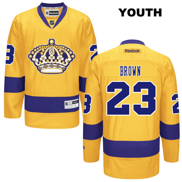 Dustin Brown Reebok Youth Los Angeles Kings Stitched Authentic Alternate no. 23 Gold NHL Jersey - Dustin Brown Youth Jersey