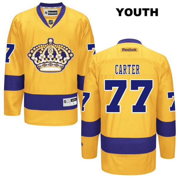 Jeff Carter Youth Alternate Los Angeles Kings Reebok Authentic Stitched no. 77 Gold NHL Jersey - Jeff Carter Jersey