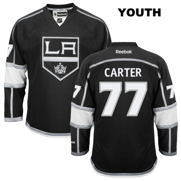 Home Jeff Carter Youth Los Angeles Kings Authentic Reebok no. 77 Stitched Black NHL Jersey - Jeff Carter Jersey