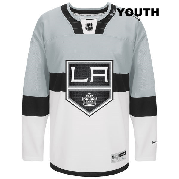 Luc Robitaille 2015 Stadium Series Reebok Youth Los Angeles Kings Authentic Stitched no. 20 White NHL Jersey - Luc Robitaille Jersey