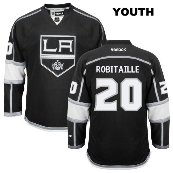 Stitched Luc Robitaille Youth Los Angeles Kings Authentic Home no. 20 Reebok Black NHL Jersey - Luc Robitaille Jersey