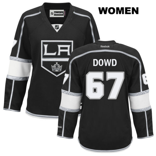 Nic Dowd Womens Home Los Angeles Kings Reebok Authentic no. 67 Stitched Black NHL Jersey