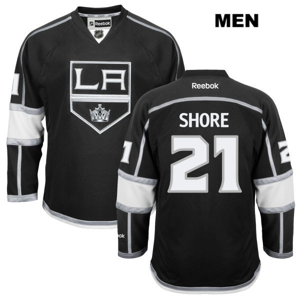 Nick Shore Mens Los Angeles Kings Stitched Authentic Reebok no. 21 Home Black NHL Jersey - Nick Shore Jersey