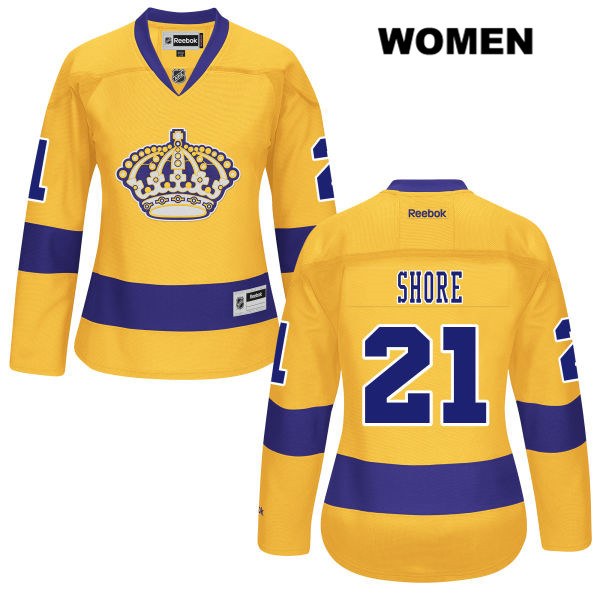 Reebok Nick Shore Alternate Womens Stitched Los Angeles Kings Authentic no. 21 Gold NHL Jersey - Nick Shore Jersey