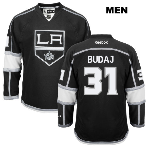 Home Peter Budaj Mens Los Angeles Kings Reebok Authentic Stitched no. 31 Black NHL Jersey - Peter Budaj Jersey