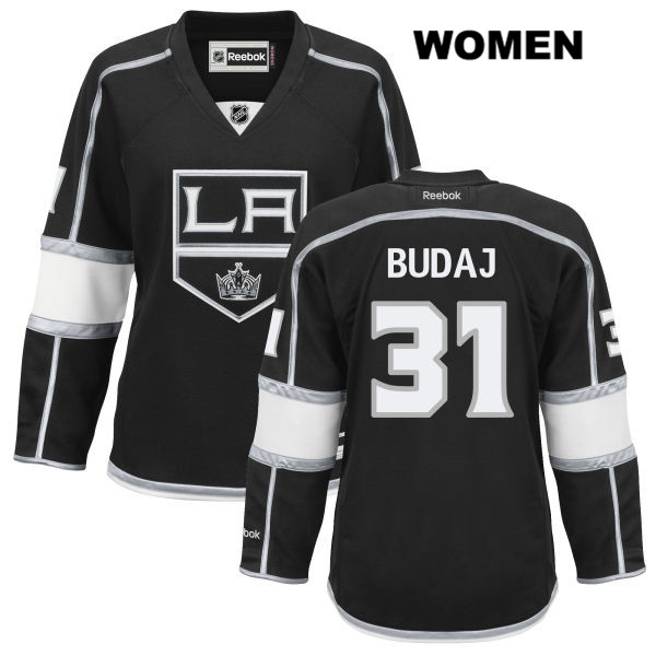 Peter Budaj Womens Home Los Angeles Kings Reebok Authentic Stitched no. 31 Black NHL Jersey - Peter Budaj Jersey