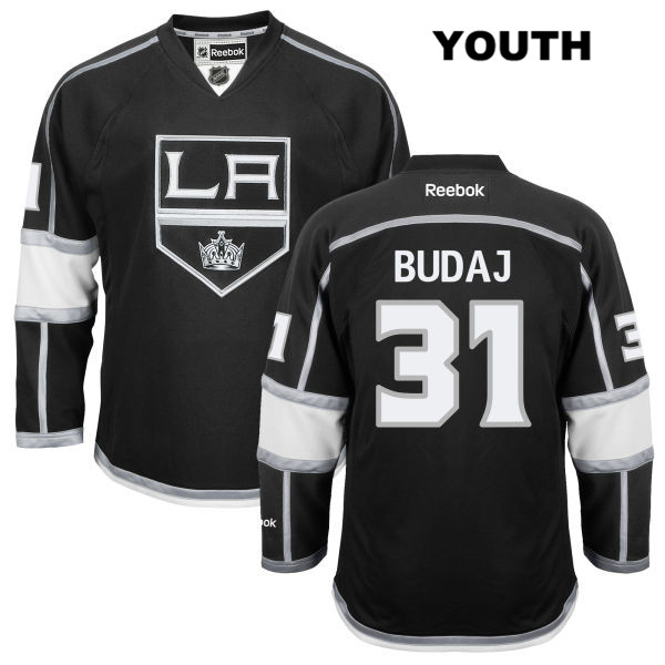 Home Peter Budaj Stitched Youth Reebok Los Angeles Kings Authentic no. 31 Black NHL Jersey - Peter Budaj Jersey