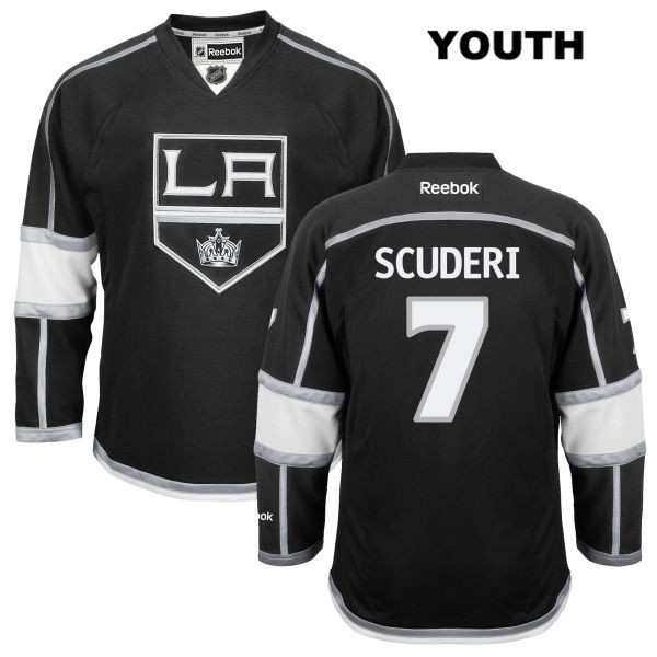 Home Rob Scuderi Reebok Youth Los Angeles Kings Authentic no. 7 Stitched Black NHL Jersey - Rob Scuderi Jersey