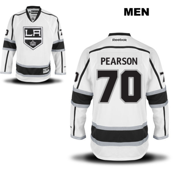 Tanner Pearson Away Mens Los Angeles Kings Reebok Authentic no. 70 Stitched White NHL Jersey - Tanner Pearson Jersey