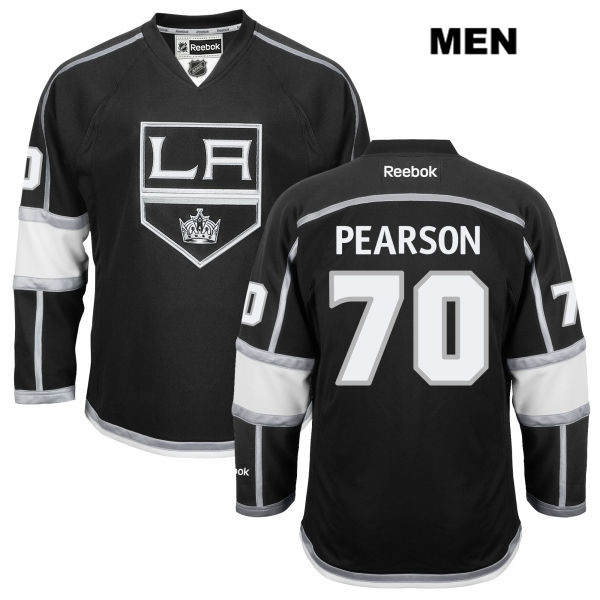 Tanner Pearson Stitched Mens Los Angeles Kings Home Authentic no. 70 Reebok Black NHL Jersey - Tanner Pearson Jersey