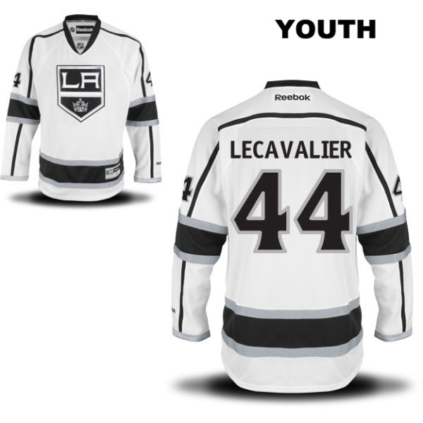 Stitched Vincent Lecavalier Youth Away Los Angeles Kings Authentic no. 44 Reebok White NHL Jersey - Vincent Lecavalier Jersey