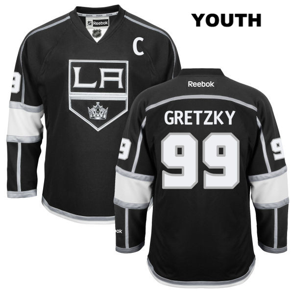 Wayne Gretzky Home Youth Los Angeles Kings Stitched Authentic no. 99 Reebok  Black NHL Jersey
